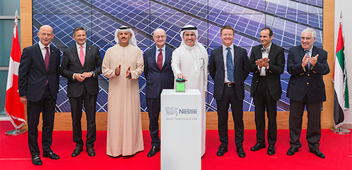 DEWA Joins Nestlé in Inauguration of UAE's Largest Ground-mounted Private Solar Plant